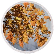Shadow And Light - Round Beach Towel