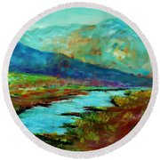 Shadow Brook Round Beach Towel