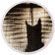 Shadow Cat Round Beach Towel