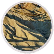Shadow Delight Round Beach Towel