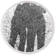 Shadow In The Meadow Bw Round Beach Towel