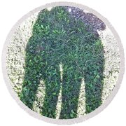 Shadow In The Meadow Round Beach Towel