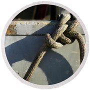 Shadow Knot - 365-348 Round Beach Towel by Inge Riis McDonald