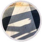 Shadow Lines Round Beach Towel
