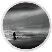 Shadow Of A Doubt Round Beach Towel