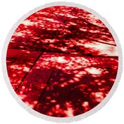 Shadow Of A Tree Round Beach Towel
