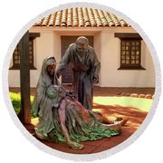 Shadow Of The Cross Detail Round Beach Towel