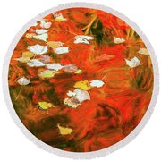 Shadow Of The Red Dragon Round Beach Towel