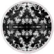 Shadow Play Round Beach Towel