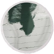 Shadow Round Beach Towel