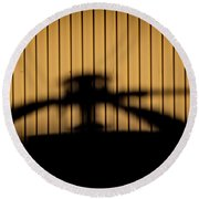 Round Beach Towel featuring the photograph Shadow Rotor by Paul Job