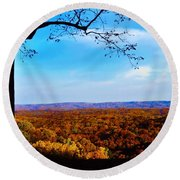 Shadow To Light Round Beach Towel