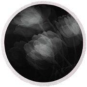 Shadows Round Beach Towel