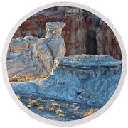 Shadows At Coal Mine Canyon Round Beach Towel by Tom Kelly
