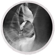Shadows In Antelope Canyon Round Beach Towel