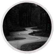Round Beach Towel featuring the photograph Shadows In Monochrome by Parker Cunningham