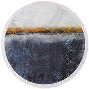 Shadows In The Night Round Beach Towel by Nicole Nadeau