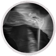 Shadows Secluded Round Beach Towel by Jon Glaser