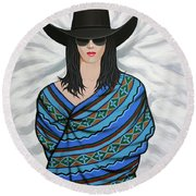 Shady Lady Round Beach Towel