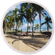 Shady Palm Round Beach Towel