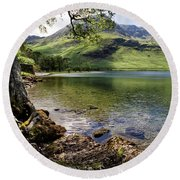 Shady Rest At Buttermere Round Beach Towel