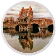 Shakespeare Bridge Round Beach Towel by Iryna Goodall