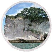 Shakespeare Rock, New Zealand Round Beach Towel