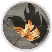 Round Beach Towel featuring the photograph Shall We Tango by I'ina Van Lawick