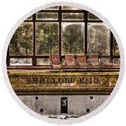 Shallow End Round Beach Towel