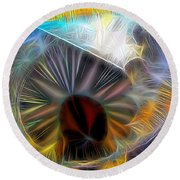 Round Beach Towel featuring the digital art Shallow Well by Ron Bissett