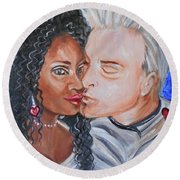 Shalonda  And  Rainer - All You Need Is Love Round Beach Towel
