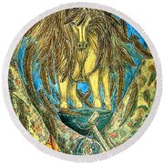 Shaman Spirit Round Beach Towel