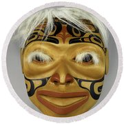 Shaman's Mask Round Beach Towel