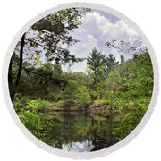 Shambeau Quarry Round Beach Towel by Judy Johnson