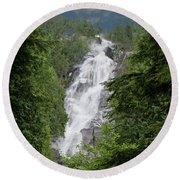 Round Beach Towel featuring the photograph Shannon Falls by Rod Wiens