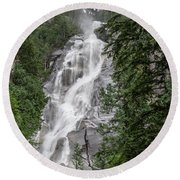 Round Beach Towel featuring the photograph Shannon Falls by Ross G Strachan