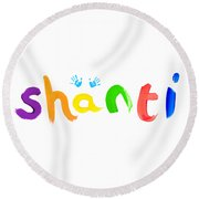 Shanti Round Beach Towel by Tim Gainey