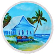 Shanty In Jamaica Round Beach Towel