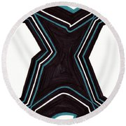 Shapely Round Beach Towel