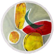 Shapes And Color 2 Round Beach Towel