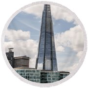Shard Building In London Round Beach Towel
