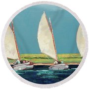 Shared Tack Round Beach Towel
