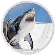 Shark Attack Round Beach Towel
