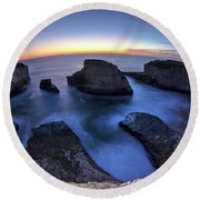 Shark Fin Cove Round Beach Towel
