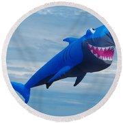 Shark Kite Flight Round Beach Towel
