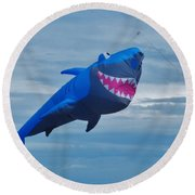 Shark Kite Round Beach Towel