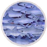 Sharks Round Beach Towel