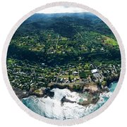 Sharks Cove Overview. Round Beach Towel