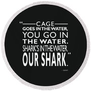 Sharks In The Water Round Beach Towel by Mark Rogan