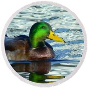 Sharp Duck Round Beach Towel
